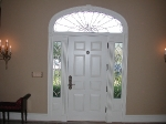Front Door Transom and Side Lites - Interior View
