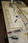 Antique Leaded Glass Panel Repair In Progress