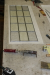 Antique Leaded Glass Panel Repair Completed